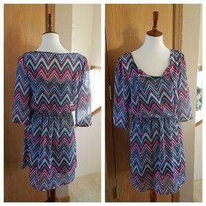 Vanity Chevron Stripe Dress